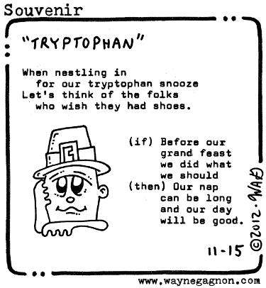 Wayne Gagnon - Souvenir Poem - Tryptophan