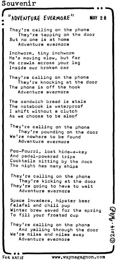 Wayne Gagnon - Souvenir Poem - Adventure Evermore