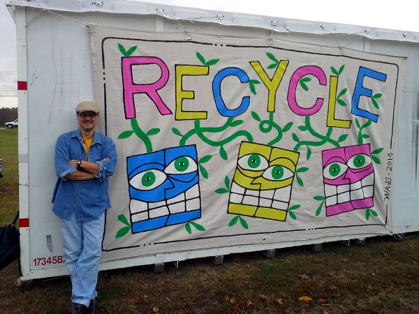 Wayne Gagnon - Painting, mural, recycle, canvas, community